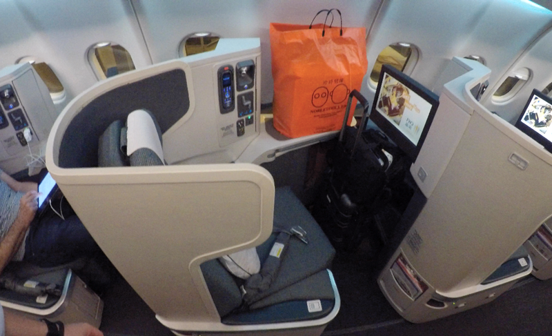 Cathay Pacific CX133 Business Class seat.