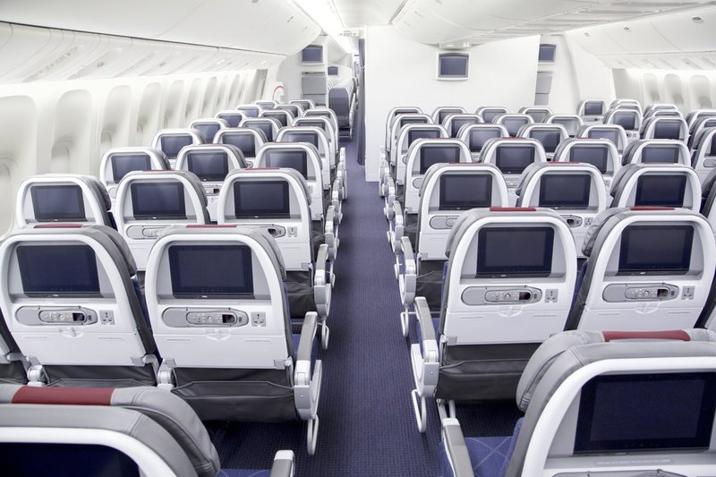 American Airlines Economy cabin.