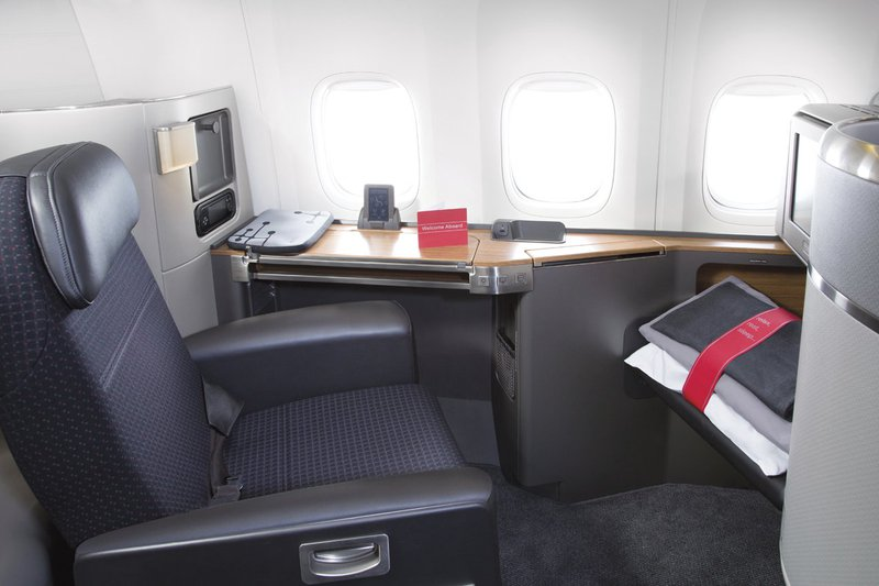 American Airlines First Class seat.