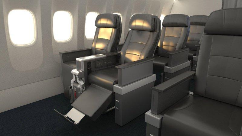 American Airlines Premium Economy seat.
