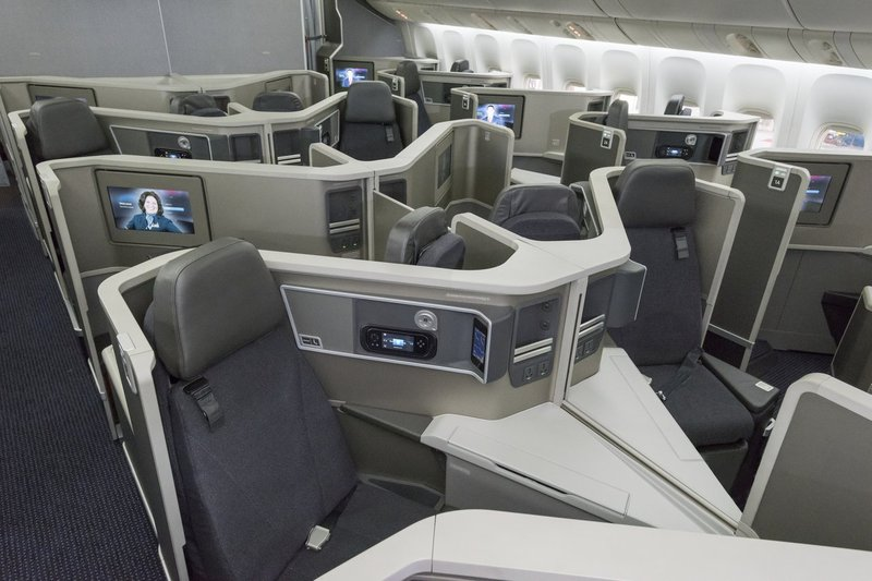 American Airlines Business Class cabin.