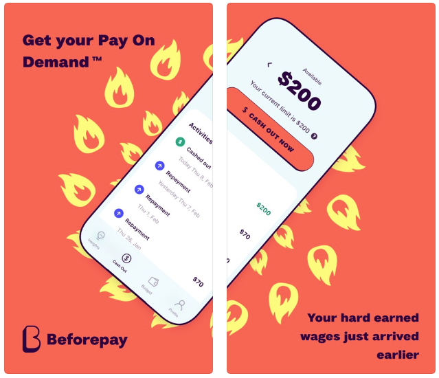 Beforepay App Dashboard Screen