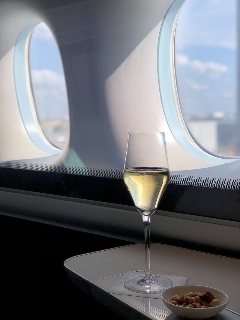 The mind boggles. I enjoyed a bottle $125 bottle of champagne onboard, but only paid $565 in taxes for 2 Business Class flights and this First Class flight. Value!