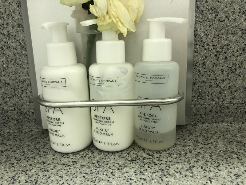 Not as snazzy as Emirates First Class, but still, you'll enjoy lovely The White Company amenities in the toilets.