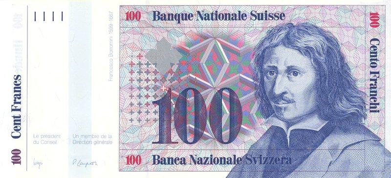 Swiss Franc banknote featuring the Swiss/Italian architect, Francesco Borromini. (Image: keepps)