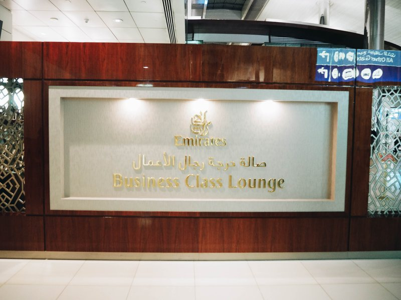 Dubai business lounge.