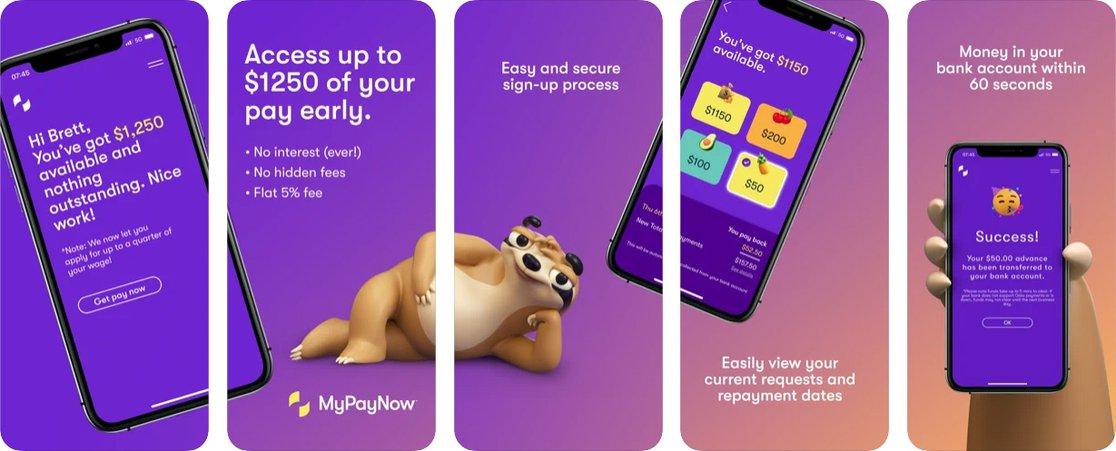 MyPayNow app iOS screens