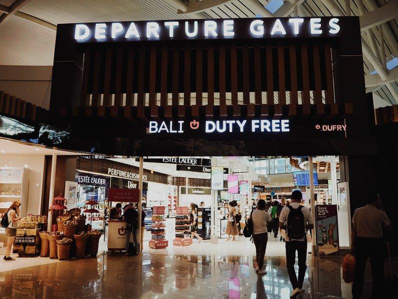 Denpasar airport gate.