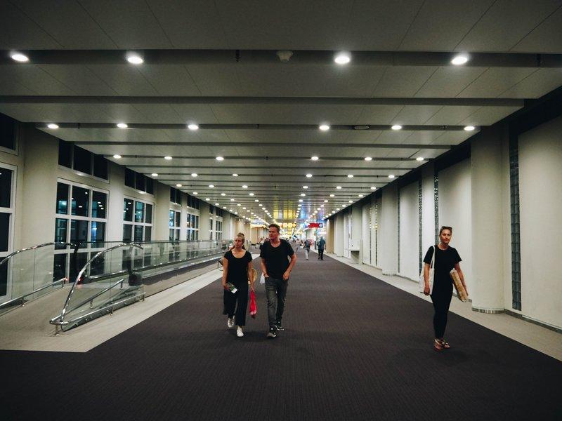 Airport walkway.