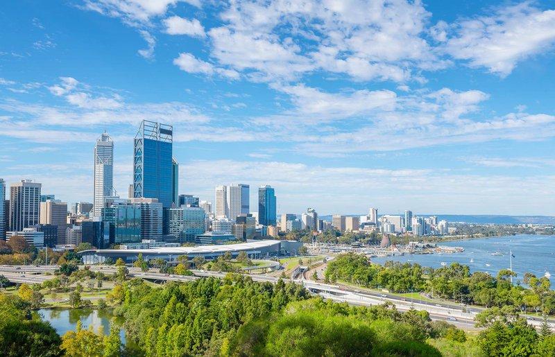 The beautiful Perth CBD skyline.