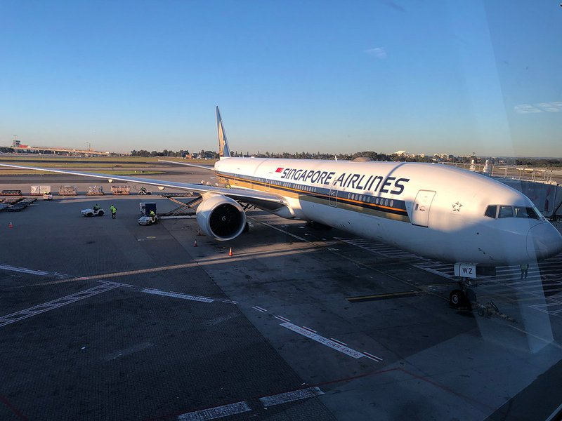 SQ212 uses a Boeing 777 300ER to fly Sydney to Singapore.