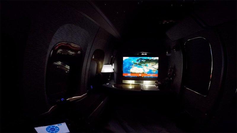 EK164 soaring somewhere over Europe.