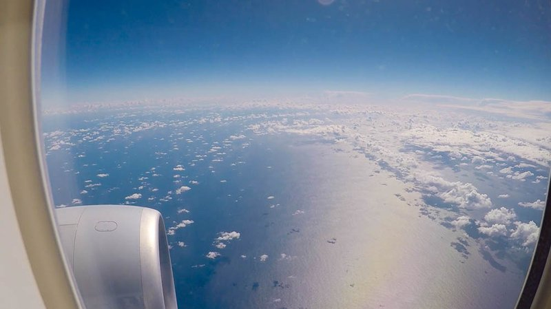 A sunny view of the Tasman Sea taken just a few miles off the coast of Sydney.