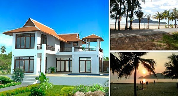 Beachfront Villa, Hua Hin, Thailand (Image: primelocation.com)