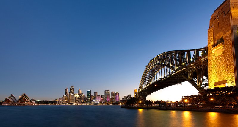 The iconic Sydney Harbour Bridge