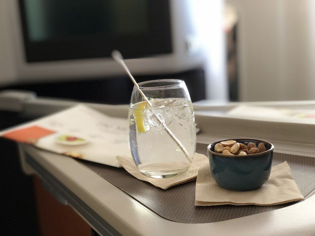 Cathay Pacific A330 Business snack