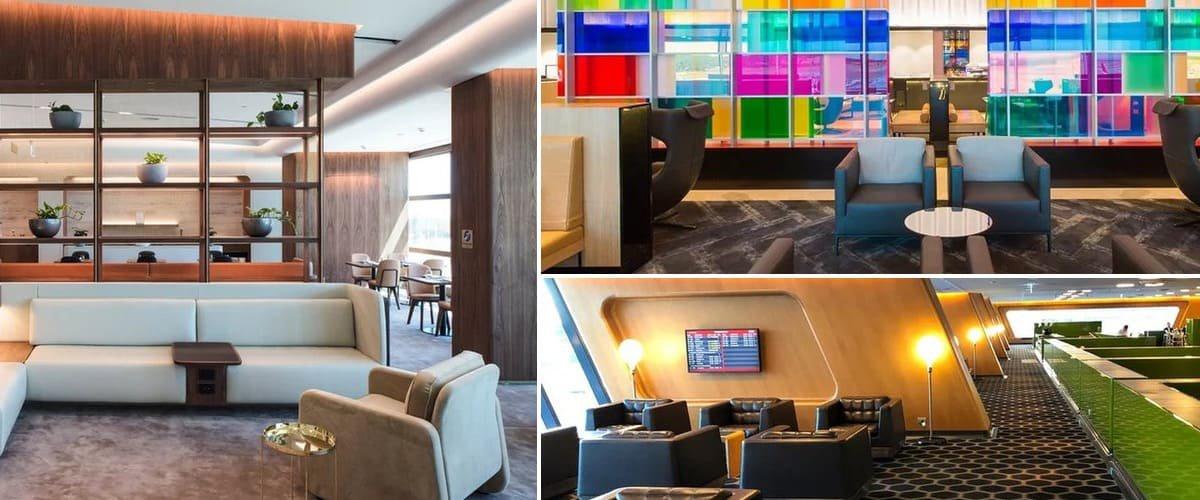 Qantas Chairman's Lounge collage