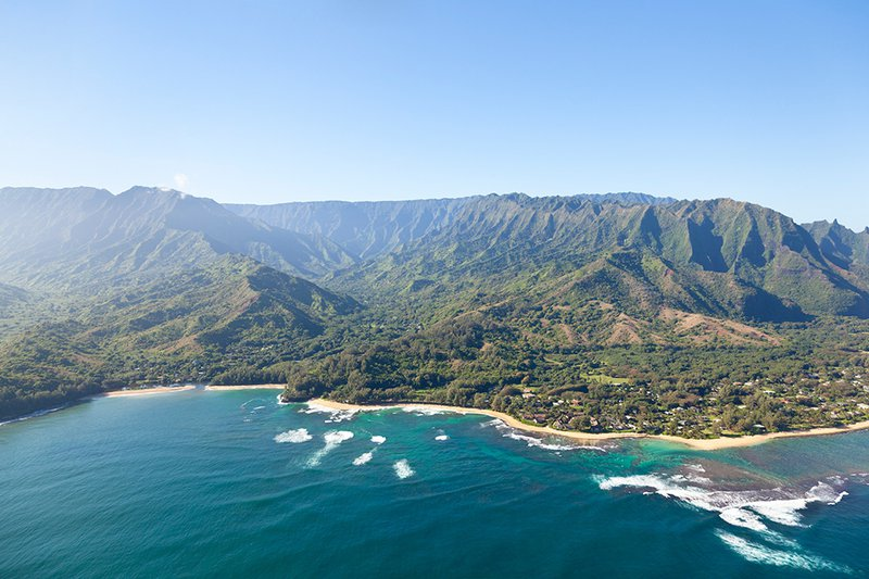 Lush tropical rainforests, reefs, beaches, and surf await you in Hawaii.