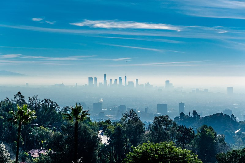 The famous Los Angeles skyline.
