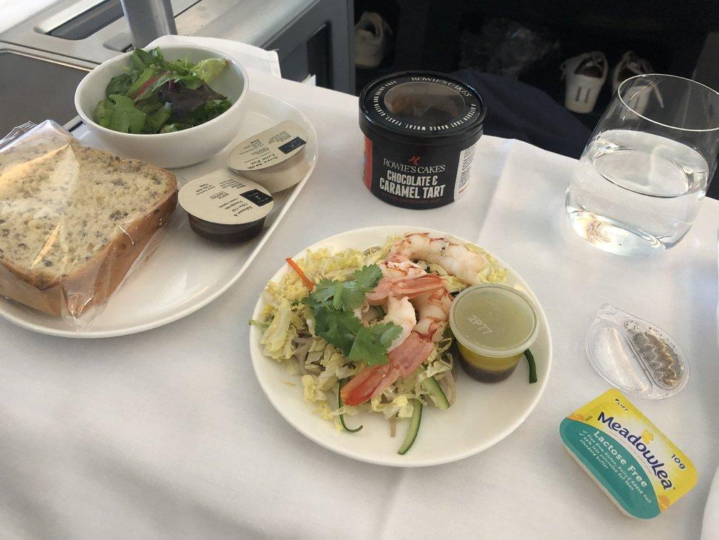 Qantas A380 Business gluten free entree