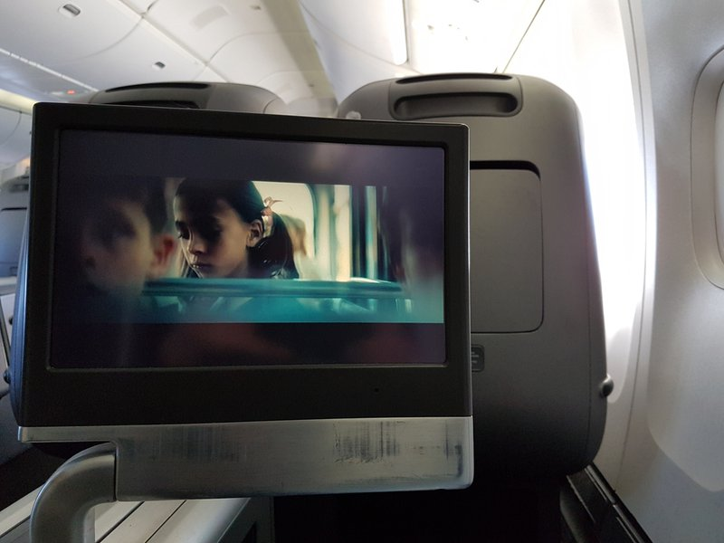 The in-flight-entertainment system looked and felt dated.