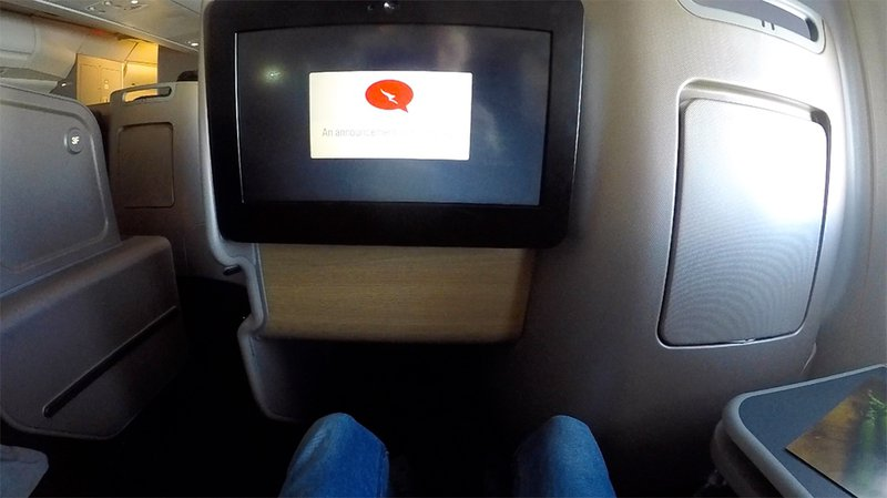 There is no lack of legroom in Qantas Business Suites.