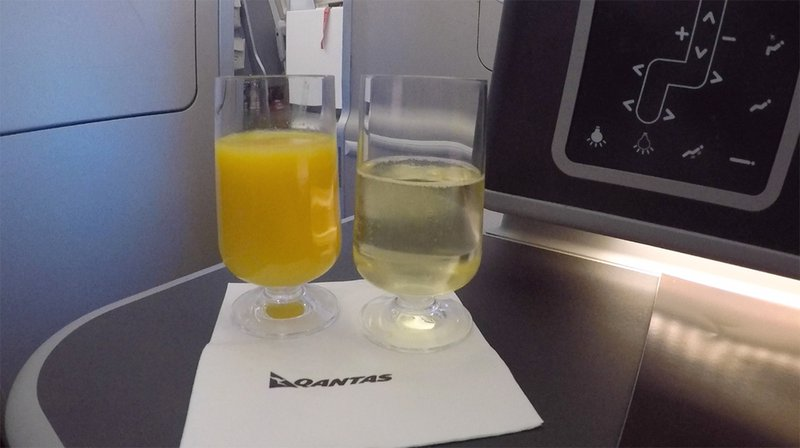 Champagne and orange juice before takeoff is mandatory. For me.