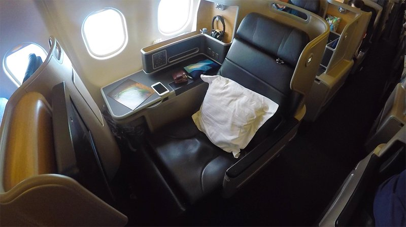 The A330 serving this route has the new Thomson Aero Business Class suite.