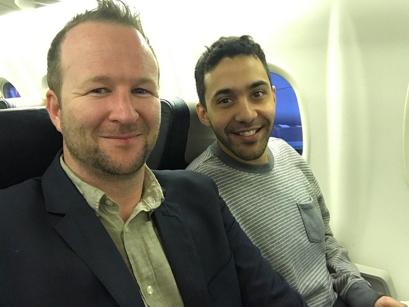 David and Leonardo, a.k.a. Gonzalo Higuaín, on the early morning flight from PQQ to SYD.
