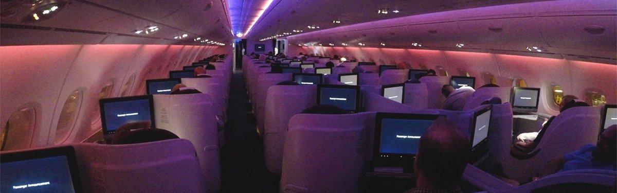 Qatar A380 cabin