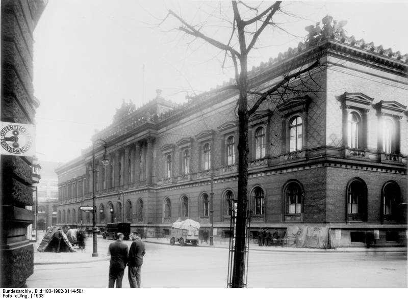 The Reichsbank in Berlin, 1933. (Image: Wikipedia)