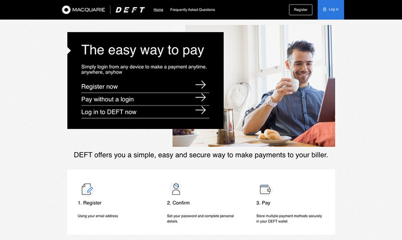 Pay rent by credit card using DEFT