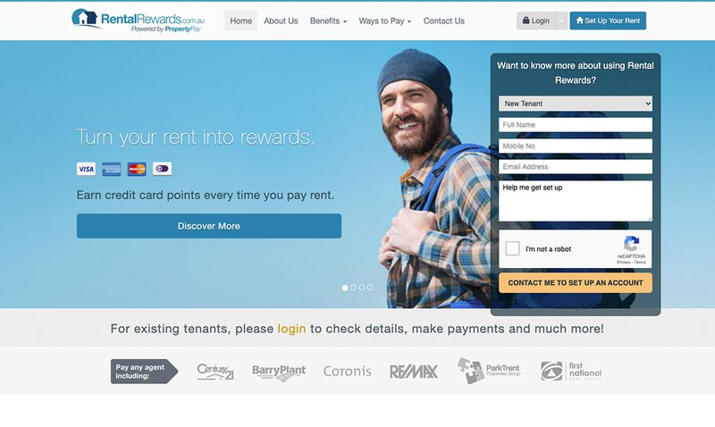 Pay rent by credit card using Rental Rewards