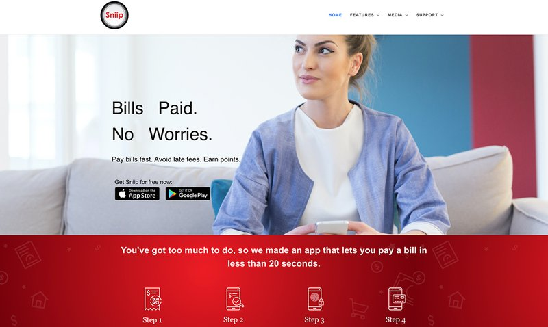 Pay rent by credit card using Sniip