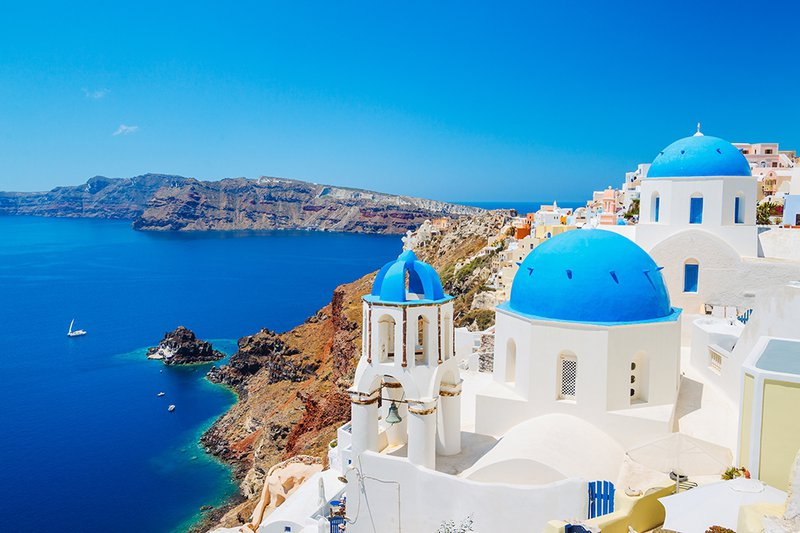Incredible views over the Aegean in Santorini.