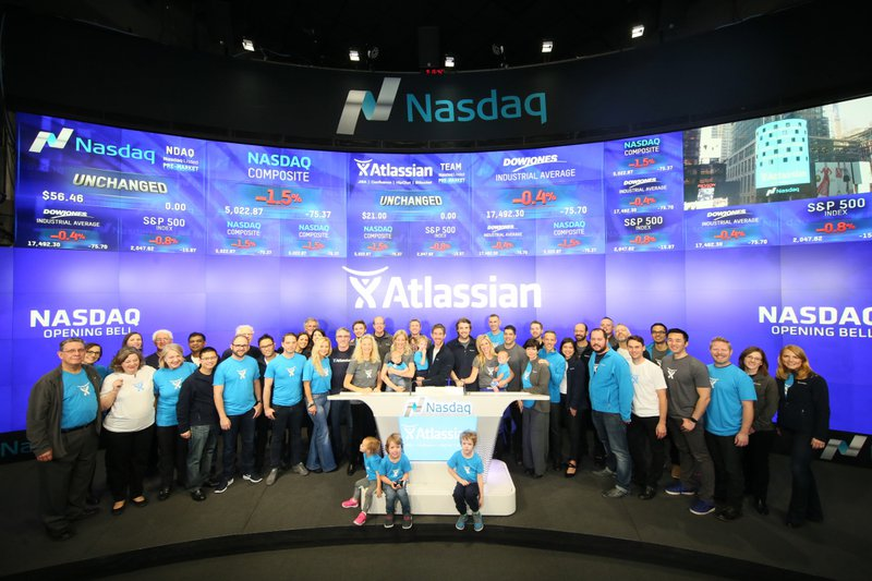 Atlassian floating on the Nasdaq in 2015